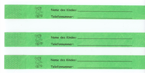 1.000 TYSTAR Kinderband, 20cm x 20mm, Neongrün