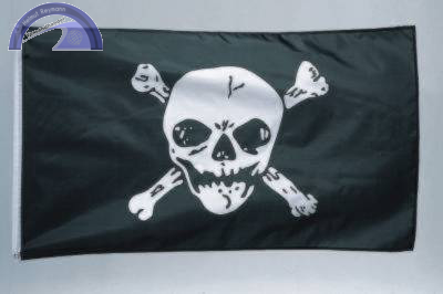 Piraten-Fahne -Jolly Roger-, ca. 90 x 150 cm