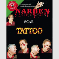 Narben-Tattoos, sortierte Motive