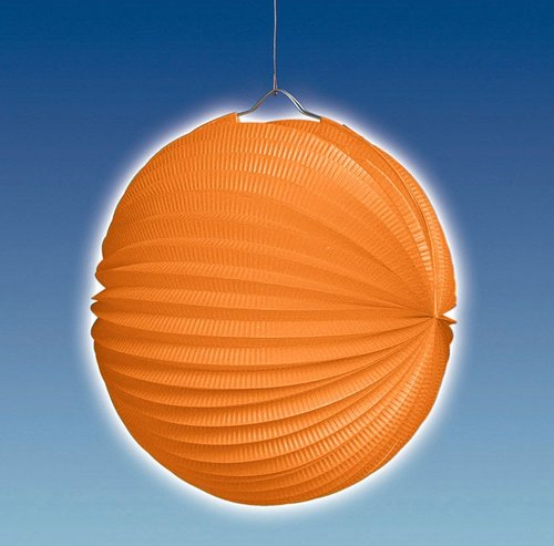 Lampion, ca. 25 cm Ø, orange